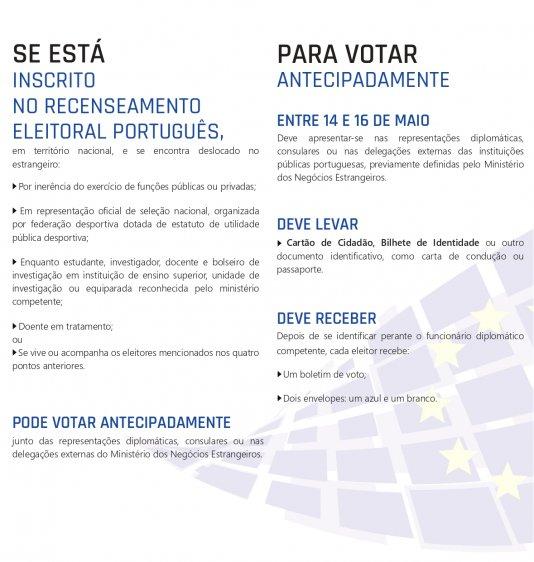 VOTO ANTECIPADO - ESTRANGEIRO
