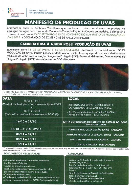 Manifesto de Produção de Uvas