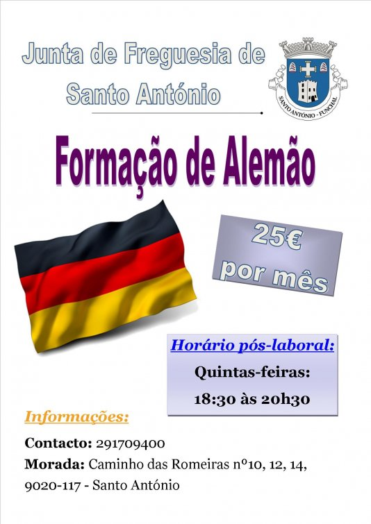 Estão abertas novas inscrições para a formação de Alemão em horário pós-laboral