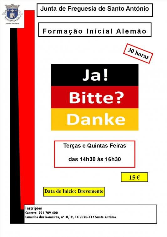 Estão abertas novas inscrições para a formação de Alemão em horário diurno