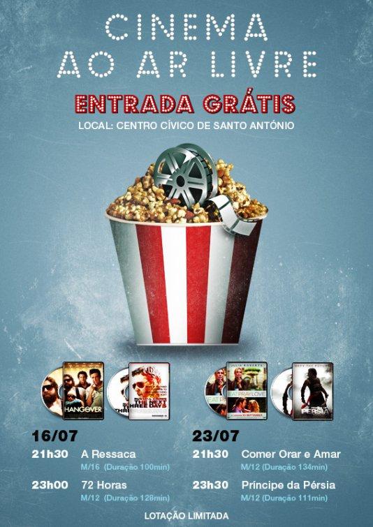 Cinema ao Ar Livre - 16 e 23 de Julho