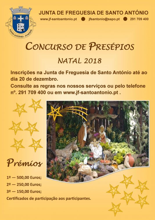 Cartaz do Concurso de presépios