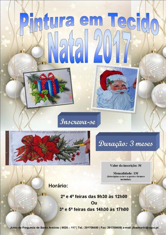 Pintura em Tecido- Alusivas ao Natal 2017