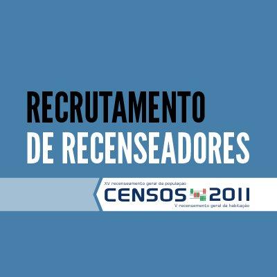 Censos 2011 - Recrutamento até 20 de Dezembro de 2010