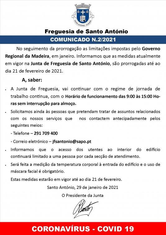 COMUNICADO Nº2 / 2021