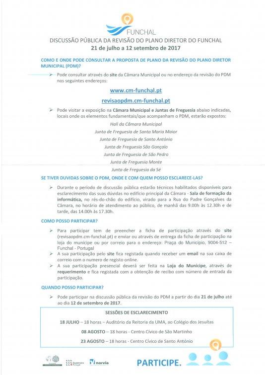 Discussão Pública da Revisão do Plano Diretor do Funchal