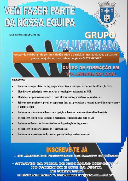 Grupo Voluntariado/Curso de Formação em Voluntariado Local