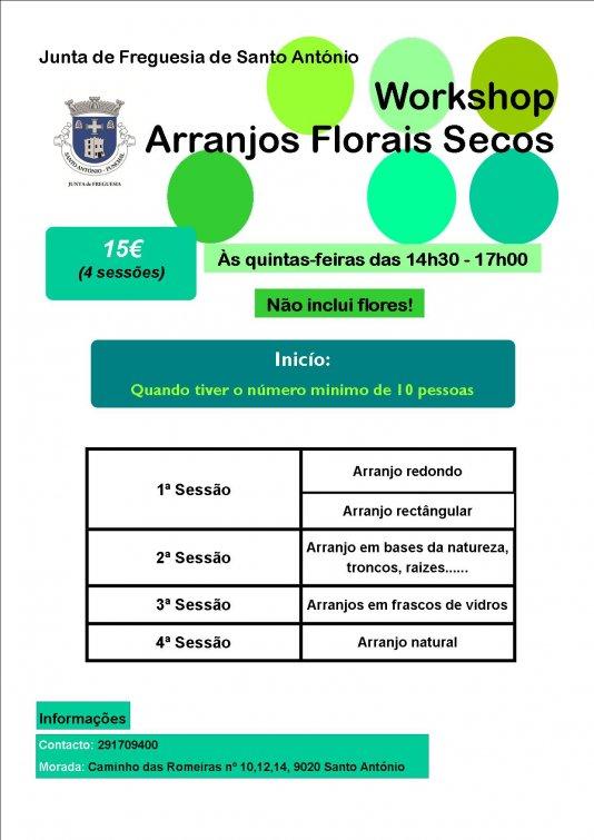 Workshop de Arranjos Florais Secos