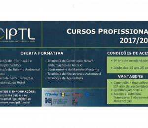 Cursos Financiados para o ano lectivo 2017/2018