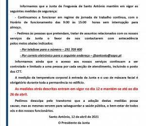 COMUNICADO N.º 9/2021