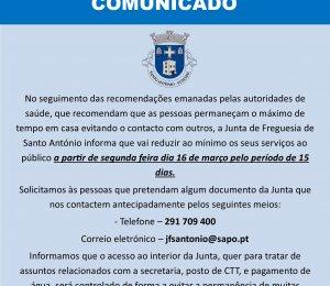 J.F.S.A - COMUNICADO N.1 - covid-19