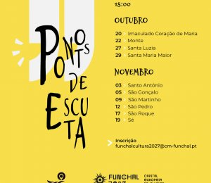 """Datas dos """"PONTOS DE ESCUTA"""""""