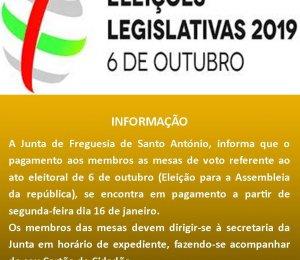 ELEIÇÃO PARA A ASSEMBLEIA DA REPUBLICA