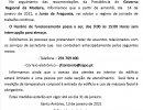 NOVO HORÁRIO DE FUNCIONAMENTO ATÉ 31-01-2021